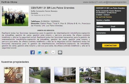 Ver perfil de la oficina century 21 venezuela autos post for Ver videos porno en la oficina