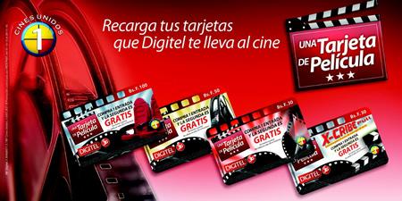 Recarga tus Tarjetas que Digitel te lleva al Cine