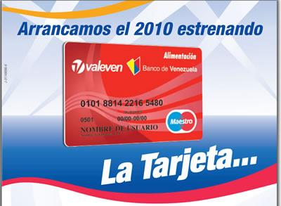 Tarjeta de alimentacion banco consulta saldo para for Banco de venezuela consulta de saldo